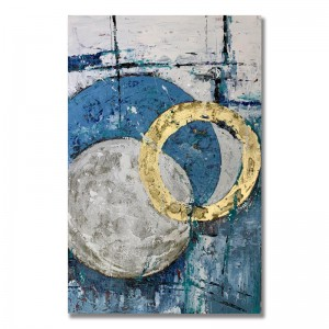 New design 100% Hand Painted Canvas Art Picture For Room Decoration Abstract Vintage Oil Painting